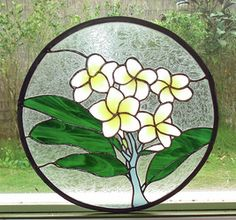 Flowers of Hawaii Collection stained glass art - Neptune's Garden