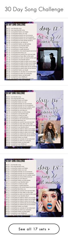 """""""30 Day Song Challenge"""" by emcarstairsofla ❤ liked on Polyvore featuring art, song, challenge, LetItGo, jamesbay, emmacarstairschallenges, soap, melaniemartinez, colors and halsey"""