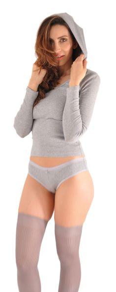8f94ba3e42ee A Kabbaz-Kelly Design: Pure Grace Italian Mini-Rib Cotton Long Sleeve Hoodie