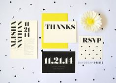 Simple Modern Wedding Invitation // DAYDREAM PRINTS