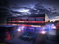 Image 4 of 6 from gallery of 2018 FIFA World Cup Stadium Winning Proposal / Wilmotte & Associés. World Cup 2018, Fifa World Cup, Soccer Stadium, Fifa 20, Sports Complex, Futuristic Architecture, World Championship, Skyscraper, Places To Go