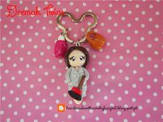 Housecleaning lady keychain 100% handmade