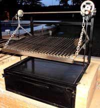 Asador con horno, caja china ataud