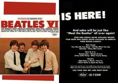 VINTAGE ADVERTISEMENT (Trade) JUNE 1966 The Beatles: Yesterday and Today (Capitol Records) Note: Album cover colorized with original. - See this image on Photobucket.