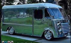 Highly polished Olson Step van, 1950's Chevrolet.