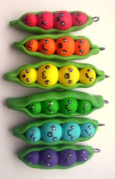 rainbow of peas in a pod