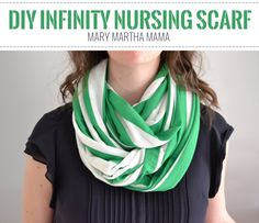 Infinity Nursing Scarf - I originally found this great project on freeneedle.com along with 1,000s of other free sewing and craft ideas!