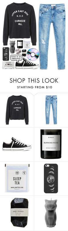 """""""Now my hearts breaking, and i dont know what to do"""" by allicat-thepoptart ❤ liked on Polyvore featuring Topshop, MANGO, Converse, Byredo, Casetify, Cassia, PyroPet, women's clothing, women and female"""
