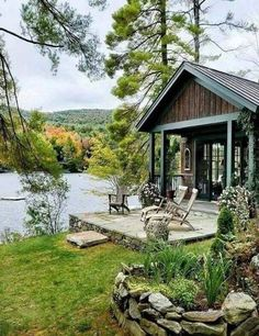 Just imagine . to # # - Women Trends Lake Cabins, Cabins And Cottages, Beautiful Homes, Beautiful Places, Lakeside Cabin, Cabin In The Woods, Little Cabin, Cabin Design, Cabin Homes