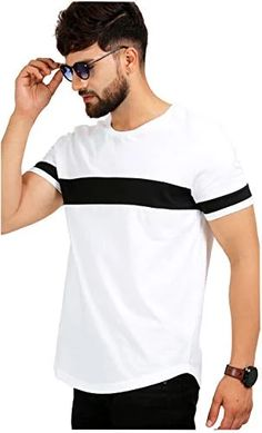 Solid Men Round Neck White T-Shirt - Compare Price Over Top Most Popular Stores White Casual, Men Casual, T Shirt Noir, Cotton Shirts For Men, T Shirts For Men, T Shirt Men, Polo Tees, Herren T Shirt, White Outfits