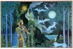 Illustration by Errol Le Cain for 'Molly Whuppie' by Walter de la Mare.