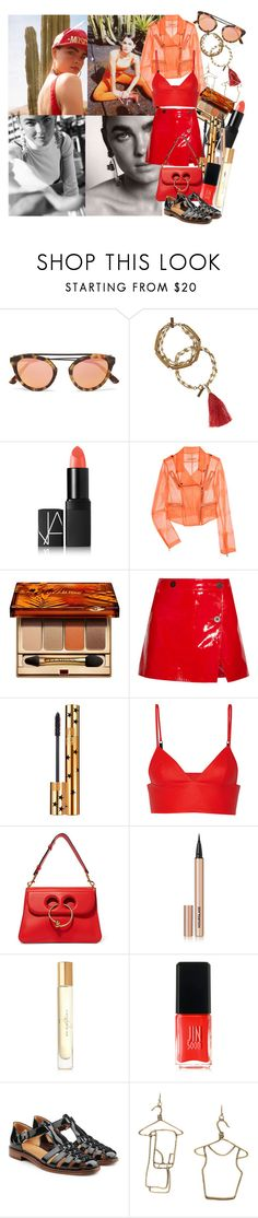 """""""The day will be what you make it, so rise like the sun, and burn"""" by brownish ❤ liked on Polyvore featuring Isabel Marant, NARS Cosmetics, Christopher Kane, Clarins, Topshop Unique, Yves Saint Laurent, T By Alexander Wang, J.W. Anderson, Hourglass Cosmetics and Burberry"""