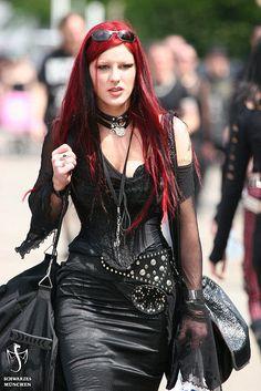 Goth street fashion