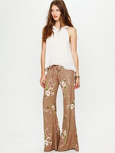 $148 Printed Drawstring Pant from Free People... I just love this brand of clothing!