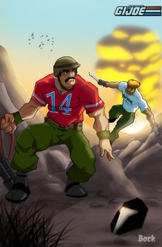 Bazooka and Outback on the run by ~MikeBock on deviantART