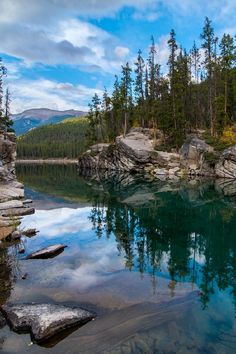 Horseshoe Lake, Jasper National Park, Alberta, Canada by Michael Brandt