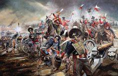 """""""'G' Mercer's Troop RHA at Waterloo, 18th June 1815""""  Chris Collingwood"""