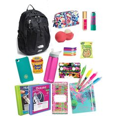 cute school supplies! Maybe skip on the backpack though. Looove the color scheme!