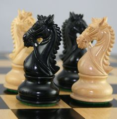 The knights in this chess set are awesome!