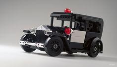Lego 1930 Ford Model A – Police _02 | Flickr - Photo Sharing! Lego Cars, Lego Auto, Lego Universe, Batman Car, Lego Police, Lego Boxes, Amazing Lego Creations, Lego Table, Lego Modular