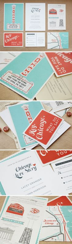 Chicago Style Wedding Invite // This is beyond perfect.