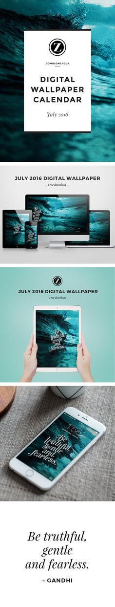 Zoe Organics Digital Wallpaper  |  Free Download  |  July 2016