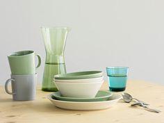 Bol Thema vert céladon - Iitala - art de la table #design #decoration #table #diner #dejeuner #petitdejeuner #cuisine #kitchen #diner #lunch #breakfast #home #deco