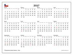 Gratis! Calendarios para  2017 para imprimir - Chile