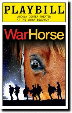 Playbill Cover for War Horse at Vivian Beaumont Theatre  War Horse Playbill - Opening Night, March 2011