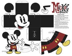Mickey foldable papercraft