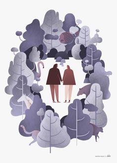 Así son las creativas y dulces ilustraciones de Marina Muun.