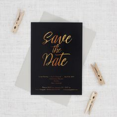 black and gold save the date nz Save The Date Wording, Save The Date Invitations, Simple Wedding Invitations, Wedding Invitation Cards, Save The Date Cards, Wedding Stationery, Wedding Cards, Invites, Gold Save The Dates