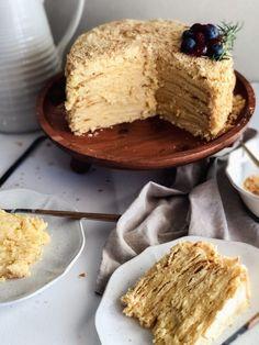 Torte Recipe, Kolaci I Torte, Serbian Recipes, Torte Cake, Chocolate Peanuts, Macaroons, Napoleon, Cake Cookies, Vanilla Cake