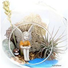 AIR PLANT TERRARIUM Lakeside Fairy Garden by AGiftofNature on Etsy