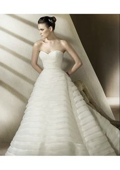 Ruched Bodice Elegant Beaded Sash with Bow back A-Line Gown Lucky Wedding Dress
