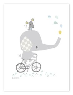 Smile, It's Raining Olifant - Poster Image Deco, Baby Posters, Pattern And Decoration, Baby Zimmer, Cute Quilts, Elephant Art, Cute Animal Drawings, Wishes For Baby, Kids Prints