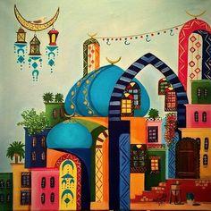 My oil painting Eid Crafts, Middle Eastern Art, Arabian Art, Islamic Art Calligraphy, Jewish Art, Egyptian Art, Egyptian Actress, Arabian Nights, Arabesque