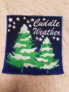 Glow in the Dark, Cuddle Weather patch. Check out this item in my Etsy shop https://www.etsy.com/listing/587250017/cuddle-weather-patch-glow-in-the-dark