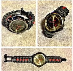 Customized paracord watch by premium paracord designs. wrist slings made to order. Archery. Paracord. Made in the USA. Women and Men who hunt. Bow Sling.  Hunting. Bow hunting. Custom made