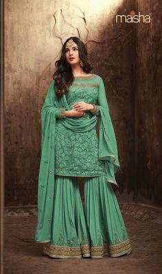 Girls Dresses With Gharara Trouser is now on top trend so i like to share some latest designs of  dresses with gharara trouser, latest dresses with gharara trouser, short frocks with gharara trouser, gharara and sharara latest collection, stylish sharara dresses, gharara pant with short shirts, latest designer eid collection, eid collection fancy dress, fancy gharara dresses #ghararatrouser #girlsdresses #fashionandarts Eid Dresses, Pakistani Dresses, Girls Dresses, Party Dresses, Sabyasachi, Lehenga, Anarkali Dress, Serie Suits, Wedding Salwar Suits
