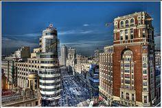 Gran Via - Madrid - España (Spain) by La Caja de Lata, via Flickr
