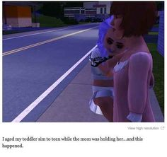 This Benjamin Button. | 29 Times The Sims Went Horribly, Hilariously Wrong