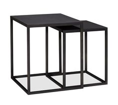Love the geometric, long lines on these. - Burke Nesting Side Table | Pottery Barn