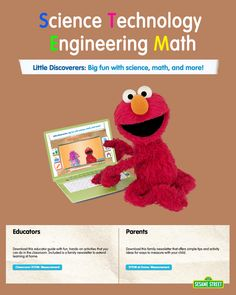 Parents and teachers, did you know that STEM exploration inspires and supports curiosity, creativity, collaboration, critical thinking, and more — crucial skills for preschool children?  For FREE easy-to-use lessons, videos, and more: http://www.sesamestreet.org/stem