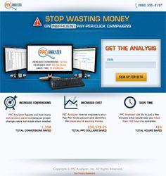 PPC Analyzer landing page