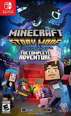 Superb Minecraft Story Mode: The Complete Adventure Nintendo Switch Now At Smyths Toys UK! Buy Online Or Collect At Your Local Smyths Store! We Stock A Great Range Of Nintendo Switch Games At Great Prices. Video Minecraft, Minecraft Creator, How To Play Minecraft, Minecraft Room, Amazing Minecraft, Minecraft Party, Switch Nintendo, Nintendo Wii, Super Nintendo