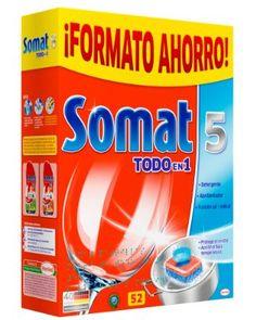 ¡Chollo! Pastillas detergente Somat 5 Todo En 1 para lavavajillas formato AHORRO…