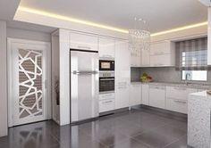 Avangard ve Klasik Tasarım Mutfak Modelleri Avangard Desenli Mutfak Mobilyası Kitchen Room Design, Kitchen Sets, Home Decor Kitchen, Kitchen Living, Interior Design Kitchen, Kitchen Furniture, New Kitchen, Home Kitchens, Ivory Kitchen