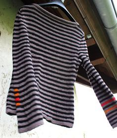Ravelry: tricosas stripes ahoy ah les jolis rayures Vogue Knitting, Knitting Yarn, Hand Knitting, Diy Pullover, How To Purl Knit, Fashion Mode, Pulls, Knitting Projects, Knitwear