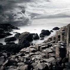 Giants Causeway Northern Ireland  Moody Landscape by thekitestring, $60.00